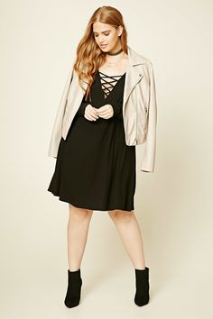 Plus Size Strappy Swing Dress   Forever 21 PLUS - 2000230226