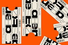 jozefondrik:  VHS ticket / Testing new typeface