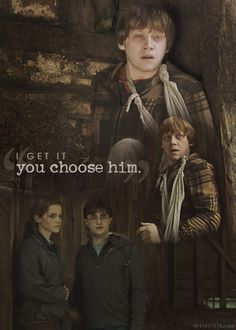So, she chooses to help him, but she chooses you