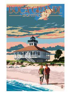 Boca Grande, Florida - Lighthouse Poster by Lantern Press at AllPosters.com