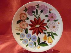 Macar Kalocsa el boyama porselen duvar tabağı