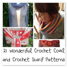 Want to make a #crochet scarf or cowl? Here are 21 patterns to choose from.