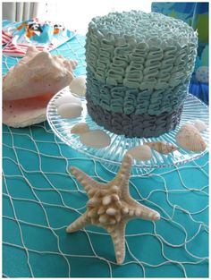 Stunning cake for a mermaid party #Cake #mermaid