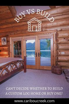 Shopping for an already built home is drastically different from planning to build a custom log home. Here are 3 tips every cabin lover should know before deciding. #logcabin #loghome #buildaloghome Log Cabin Homes, Log Cabins, Log Home Designs, Building A New Home, How To Buy Land, Cabins In The Woods, Building Materials, Home Buying, Pergola