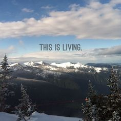 This is living. I'm on top of the world. #crystalmountain #latergram #ontopoftheworld