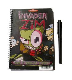 Invader Zim Up-Cycled Notebook