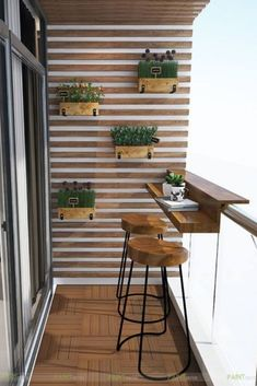Wonderful Small Apartment Balcony Decor Ideas with Beautiful Plant - Apartment Decor - Design RatBalcony Plants tan Furniture Small Balcony Design, Small Balcony Garden, Small Balcony Decor, Terrace Design, Balcony Ideas, Condo Balcony, Small Balcony Furniture, Diy Furniture, Small Balconies