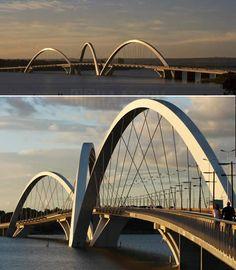 Puente Juscelino Kubitschek, en Brasilia, Brasil
