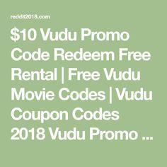 $10 Vudu Promo Code Redeem Free Rental   Free Vudu Movie