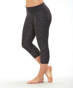 Another great find on #zulily! Caron Camo Capri Leggings by Bally Total Fitness #zulilyfinds