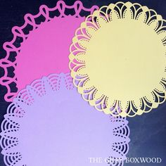 Handcrafted circular doilies, created with a Martha Stewart punch | The Gray Boxwood