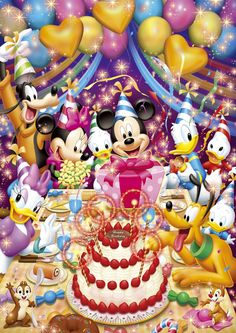 Happy Birthday Mickey Mouse, Happy Birthday Text, Happy Birthday Wallpaper, Mickey Mouse And Friends, Happy Birthday Greetings, Mickey Minnie Mouse, Stained Glass Christmas, Stained Glass Art, Wallpaper Do Mickey Mouse