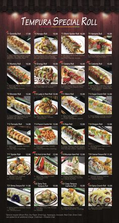 Fusion Sushi Inspiration! Even more on website! Menu for Fusion Sushi Japanese Restaurant | Manhattan Beach and Long Beach in California
