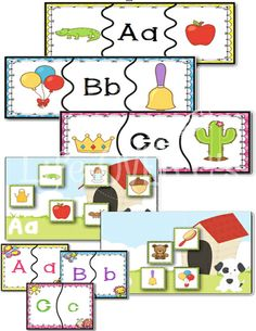 Beginning Sounds Center Activities for Phonemic Awareness: Puzzles, Sorting, Matching, Card Games, Play Dough Mats & more! $