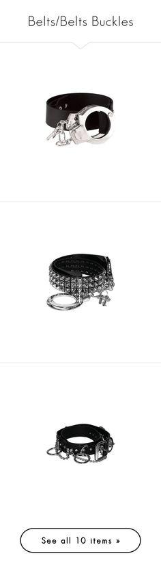 """Belts/Belts Buckles"" by misssookielemort ❤ liked on Polyvore featuring accessories, belts, jewelry, bracelets, cintos, necklaces, tous, rock belts, pyramid belt и black rhinestone belt"