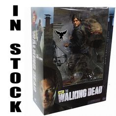 "daryl dixon walking dead action figures | New Daryl Dixon 10"" Crossbow Shooting Zombie Walking Dead AMC ..."