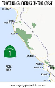 Traveling California's Central Coast.  We lived in Derby Acres, west of Bakersfield, took our vacations at Pismo Beach and Morro Bay each summer.  Drove to Atascadero in November for a trailer load of apples for the winter. Twas a good life.