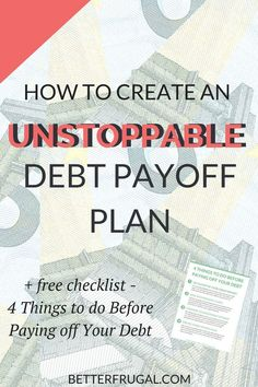 Are you ready to get serious about paying off your debt? Check out this article on the differences between the Debt Snowball and Debt Avalanche methods and how you can create an unstoppable debt payoff plan! (Warning: The numbers may surprise you!) debt snowball   debt avalanche   debt payoff plan   debt payoff   debt free via @betterfrugal
