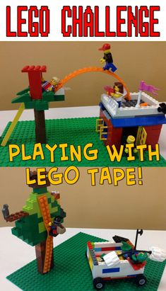 Use Lego tape in your Lego Club!!  Fun new way to use your Legos.