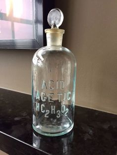 Your place to buy and sell all things handmade Apothecary Bottles, Antique Bottles, Perfume Bottles, Flaws And All, Vintage Medical, Make Arrangements, Unique Vintage, Clear Glass, Vodka Bottle