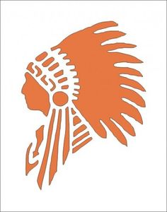 Stencil Indian Chief head dress 4.5 x 6 western