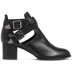 SNITCH | Mollini - Fashion Footwear: SNITCH by DJANGO & JULIETTE. Stacked heel open sided ankle boot with wraparound buckled straps. Leather upper, leather lining and man made outsole.