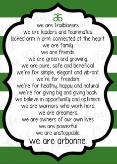 We are Arbonne