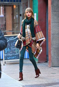 Taylor Swift's perfect-for-Fall poncho is less than $100 — from Topshop!