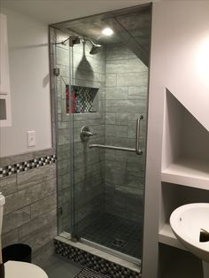 Under the stairs shower