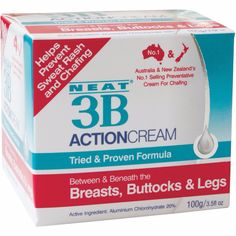 Neat Action Anti-Chafing And Anti-Sweat Rash Cream Rash Cream, Skin Cream, Anti Chafing, Arthritis Cream, Container Dimensions, Sensory Therapy, Excessive Sweating
