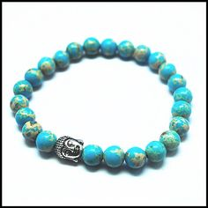 2016 new Guangzhou blue imperial jasper stone beads bracelets for men's bracelet,women's bracelets size 8mm best wholesale price