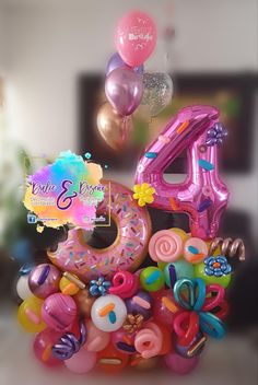 Birthday Balloon Decorations, Birthday Balloons, Diy Crafts Room Decor, Balloon Arrangements, Balloon Gift, Balloon Columns, Balloon Bouquet, Bouqets, Birthdays