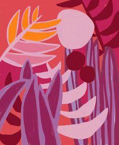 Inside the Jungle – Ophelia Pang Painting Inspiration, Art Inspo, Illustration Art, Illustrations, Plant Art, Motif Floral, Pattern Art, Art Drawings, Abstract Art