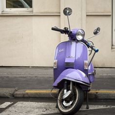 :) it's purple! want. I actually had one of these once, so much fun to drive around.