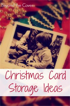 Christmas card storage ideas
