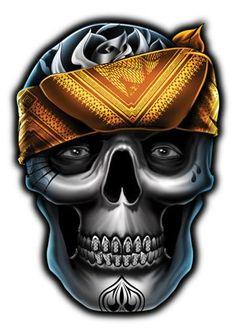 Thug Skull Temporary Tattoos - Skull Mix Tattoos