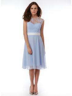 24921a11dd Elise Ryan Lace Sweetheart Skater Dress Pale Blue Dresses