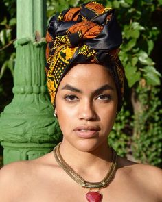 Your beauty is so much more than skin deep  Model: @jarelinemaxiel  Product : Olamide Silk Lined Headwrap  Shop @ http://ift.tt/1kuHFKj  Tags: #headwrap #headwraps #ankara  #ceeceescloset #ceeceesclosetnyc
