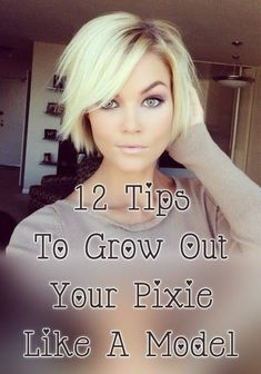 12 Tips To Grow Out A Pixie Like A Model keeping your hair cute while it grows Growing Out Short Hair Styles, Short Hair Cuts, Long Hair Styles, Short Pixie, Growing Out Pixie Cut, Short Hair Hacks, Growing Your Hair Out, Growing Out Platinum Hair, Growing Out Hair Tips