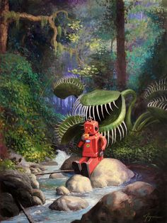 "Piece from Eric Joyner's ""It's A Jungle Out There"" show at the Corey Helford Gallery, Culver City, CA."