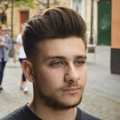 High Fade with Thick Quiff