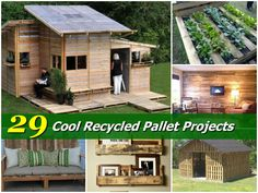 29 Cool Recycled Pallet Projects---I LOVE these ideas, especially the small barn.