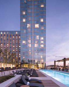 Omni Nashville Hotel ~ Cool down in the rooftop pool, the only one of its kind.