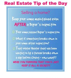 Real estate Tip of the day..