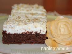 Kakaové rezy s bielkovou penou - recept