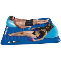 Swimline Swimming Pool Inflatable Durable Floating 2 Person Air Mattress at Lowe's. When you want some quality 1 on 1 relaxation time and want to be on the water, look no further than the Swimline Swimming Pool Inflatable Durable Pool Rafts, Pool Chairs, Target, Blue Pool, Pool Accessories, Pool Supplies, Pool Toys, Cool Pools, The Ordinary