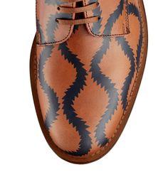 Tan/Blue Derby Shoe from Vivienne Westwood