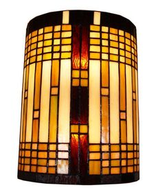 Tiffany Style 2-Light Geometric Wall Sconce