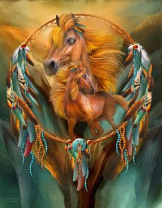 Stallion Dreams designer fleece blanket featuring the fine art of Carol Cavalaris. Native American Legends, Native American Dolls, Native American Artwork, American Indian Art, Native American Indians, Native Indian, Horse Spirit Animal, Eagle Pictures, Baby Wolves