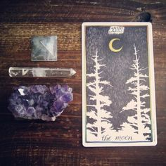 the wild unknown tarot + crystals